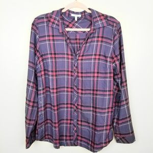 NWOT Maurices Purple Plaid Long Sleeve